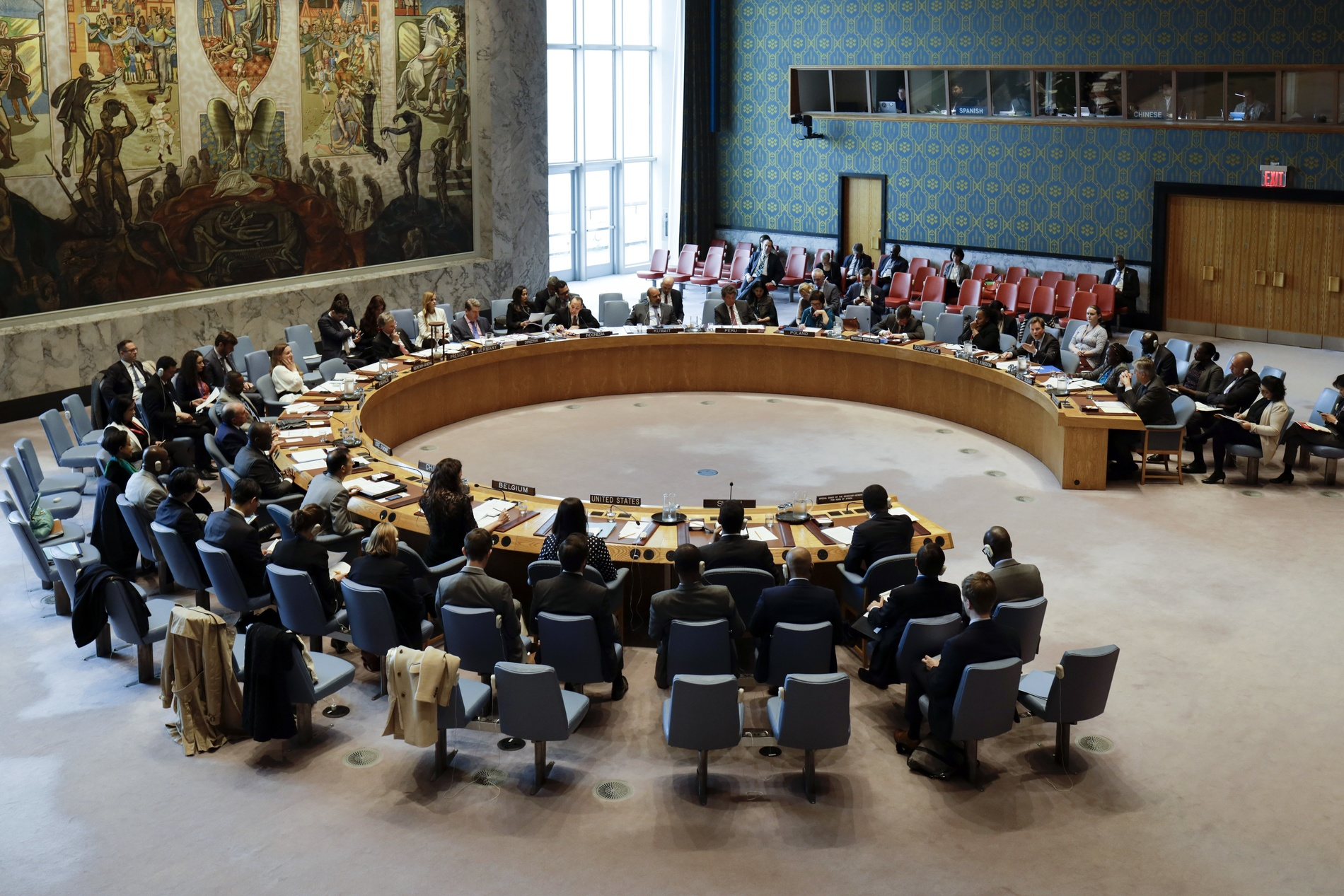 Le Conseil de sécurité des Nations unies se réunit à New York.